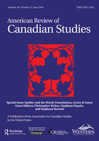 page couverture - Am Review of Canadian Studies